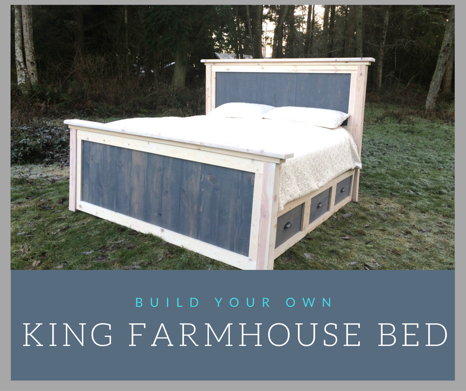 Diy King Farmhouse Bed Plans Reconstruction Life